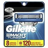 Mach3 Gillette Turbo Men's Razor Blade Refills, 8 Count (Packaging May Vary), Mens Razors / Blades (Tamaño: 8 Count)