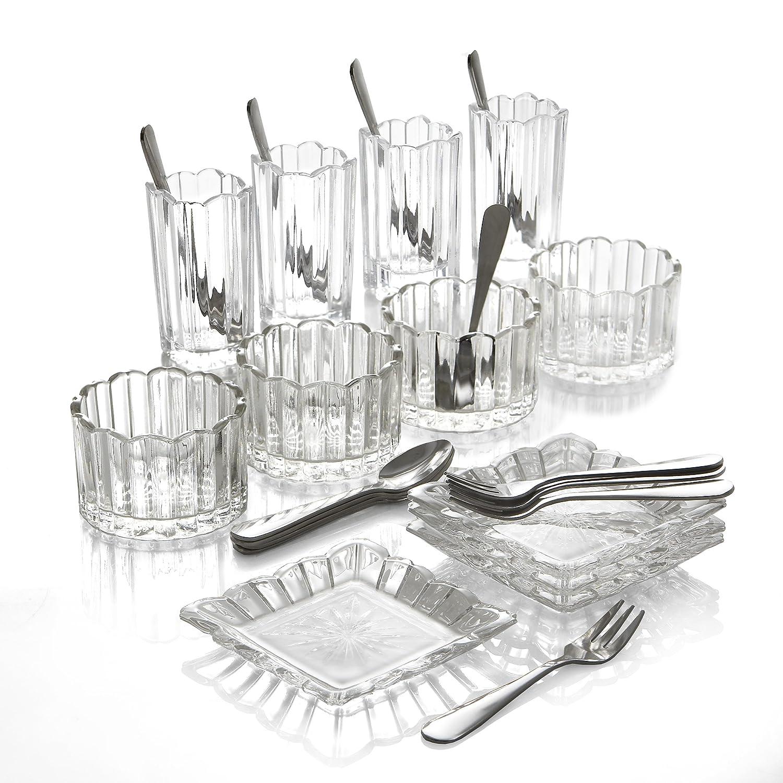 Crystal Clear Alexandria 25-Piece Mixed Taster Set