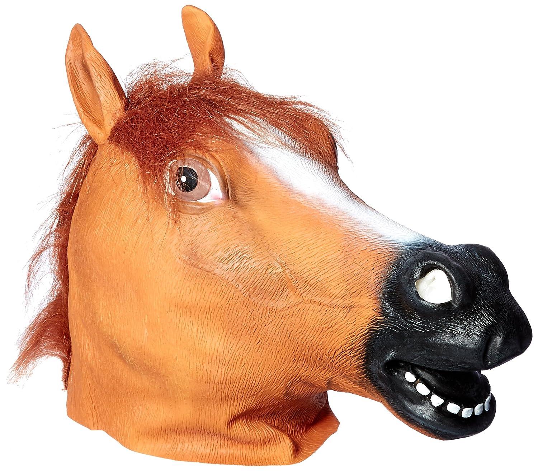 Buy Kingmys KINGMYS Latex Horse Head Mask (Brown Horse Mask ...
