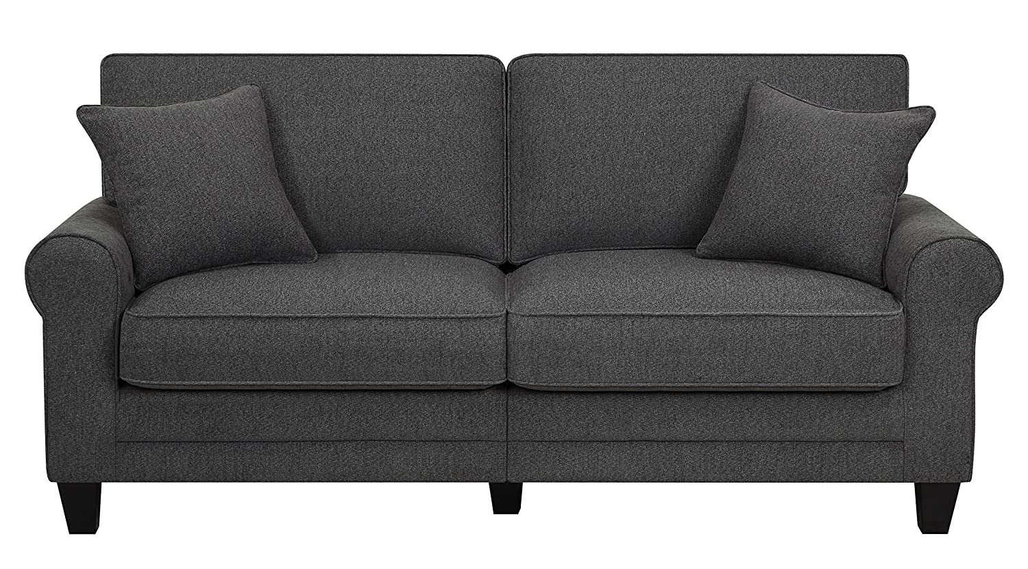 Serta® RTA Copenhagen Collection 78 Sofa in Steeple Gray - CR46225PB