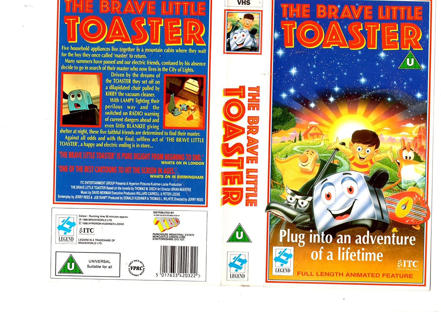 Promotional Display for The Brave Little Toaster VHS : movies