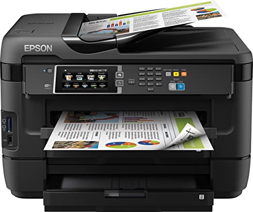 Epson Workforce WF-7620DTWF Imprimante Couleur 4en1 A3+ recto verso double bac 18 ppm Wi-Fi Noir