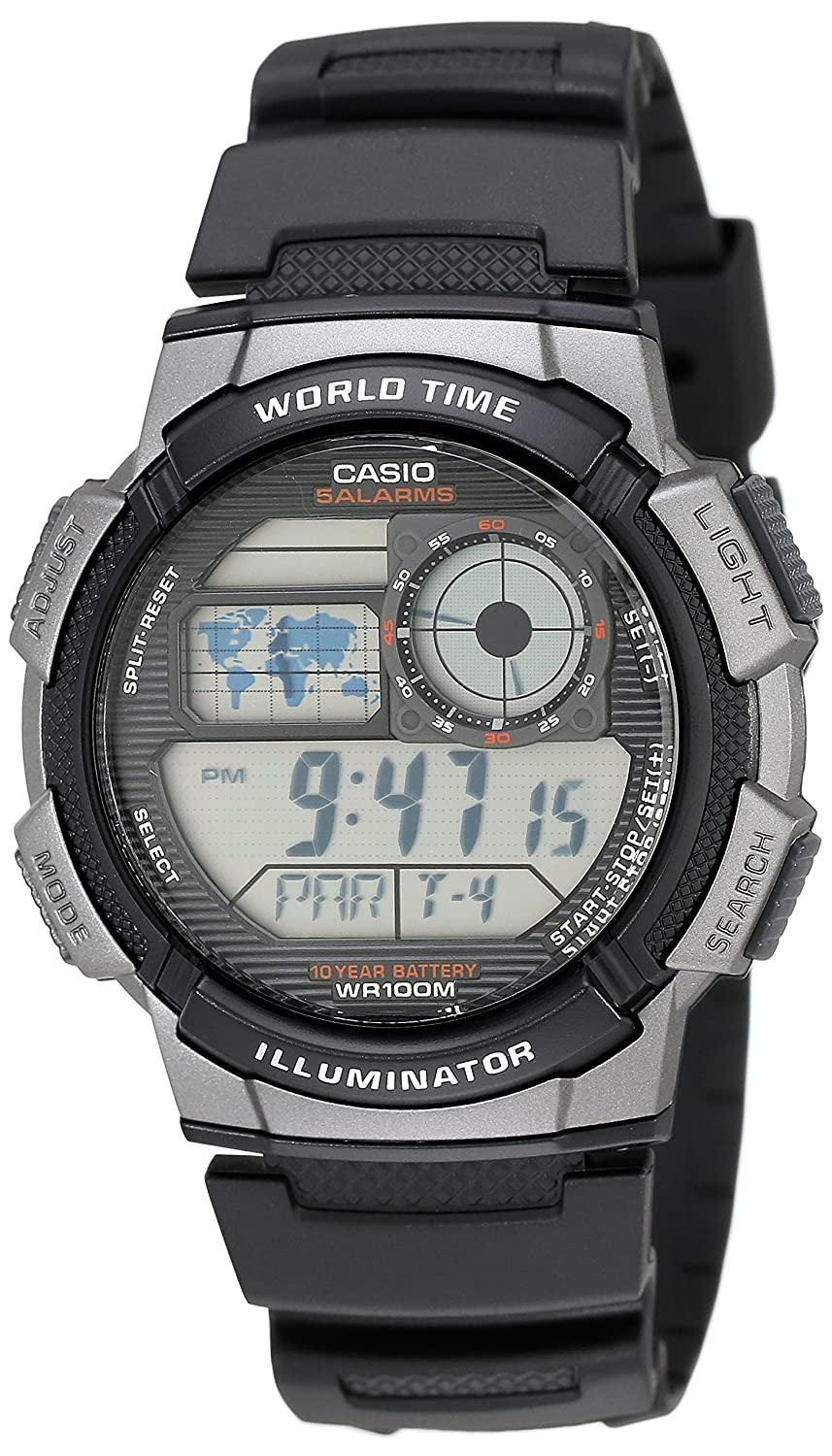 buy casio youth stopwatch digital black dial men s watch ae buy casio youth stopwatch digital black dial men s watch ae 1000w 1bvdf d081 online at low prices in amazon in