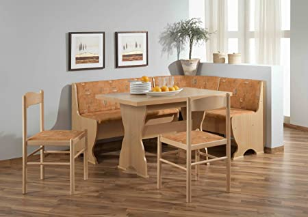 "Eckbankgruppe "" Plön "" variabel aufbaubar 2 x Stuhl Esstisch Tisch Essgruppe"