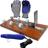 Glass Bottle Cutter, Upcycle EZ-Cut, Wine & Beer Bottle Cutting Machine Tool: Ultimate Kit + Heat Breaking Tool + Gloves + Sandpaper