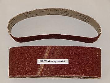 30x Gewebe Schleifbänder gemischt 100 x 560 mm Korund Bandschleifer Schleifband