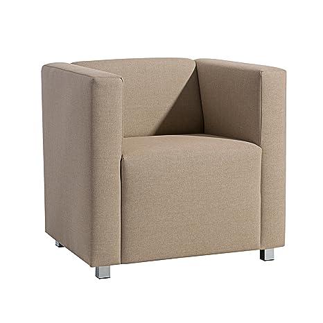 Max Winzer 25392-1100-1645226 kubischer-/Lounge Sessel Corrado, Leinenoptik, sand