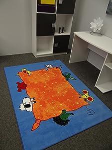 Kinderteppich Tiere blau 200 x 300 cm  Bewertungen