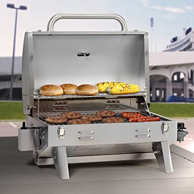 Smoke Hollow 205 Stainless Steel Tabletop Propane Gas Grill Via Amazon