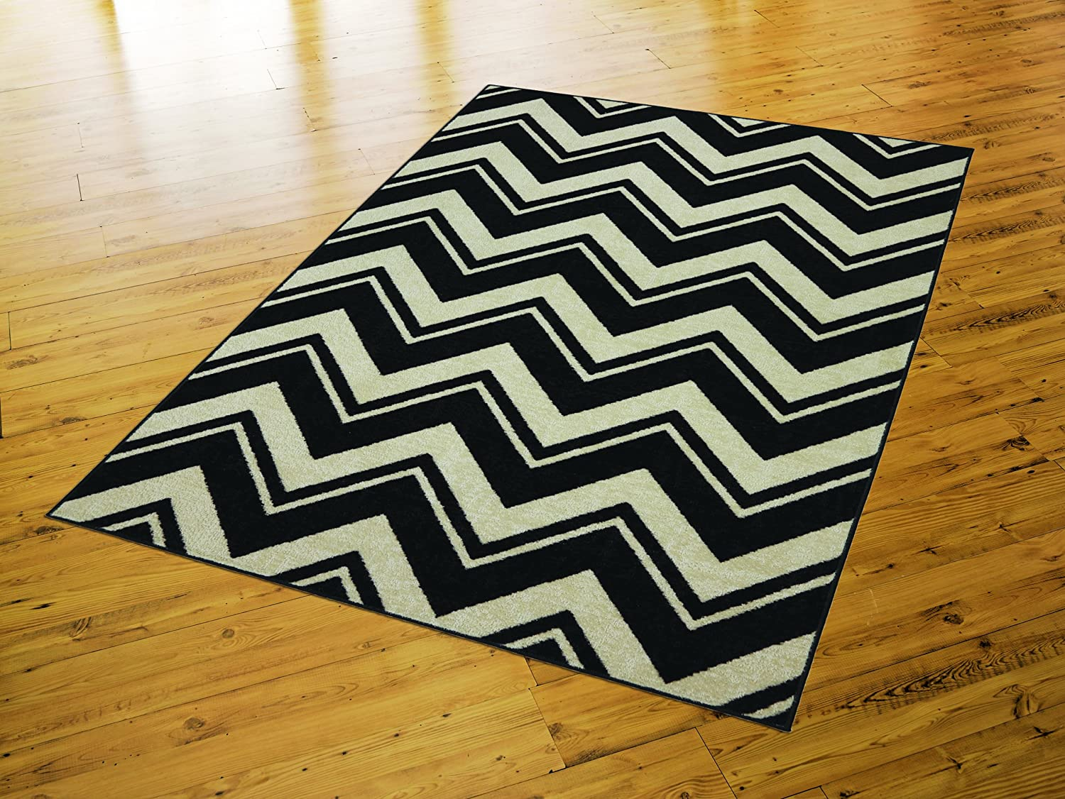 cotton rug in black and white