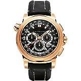 Carl F. Bucherer Patravi TravelTech GMT Chronograph Men's Rose Gold Automatic Chronometer Swiss Made Watch 00.10620.03.33.01