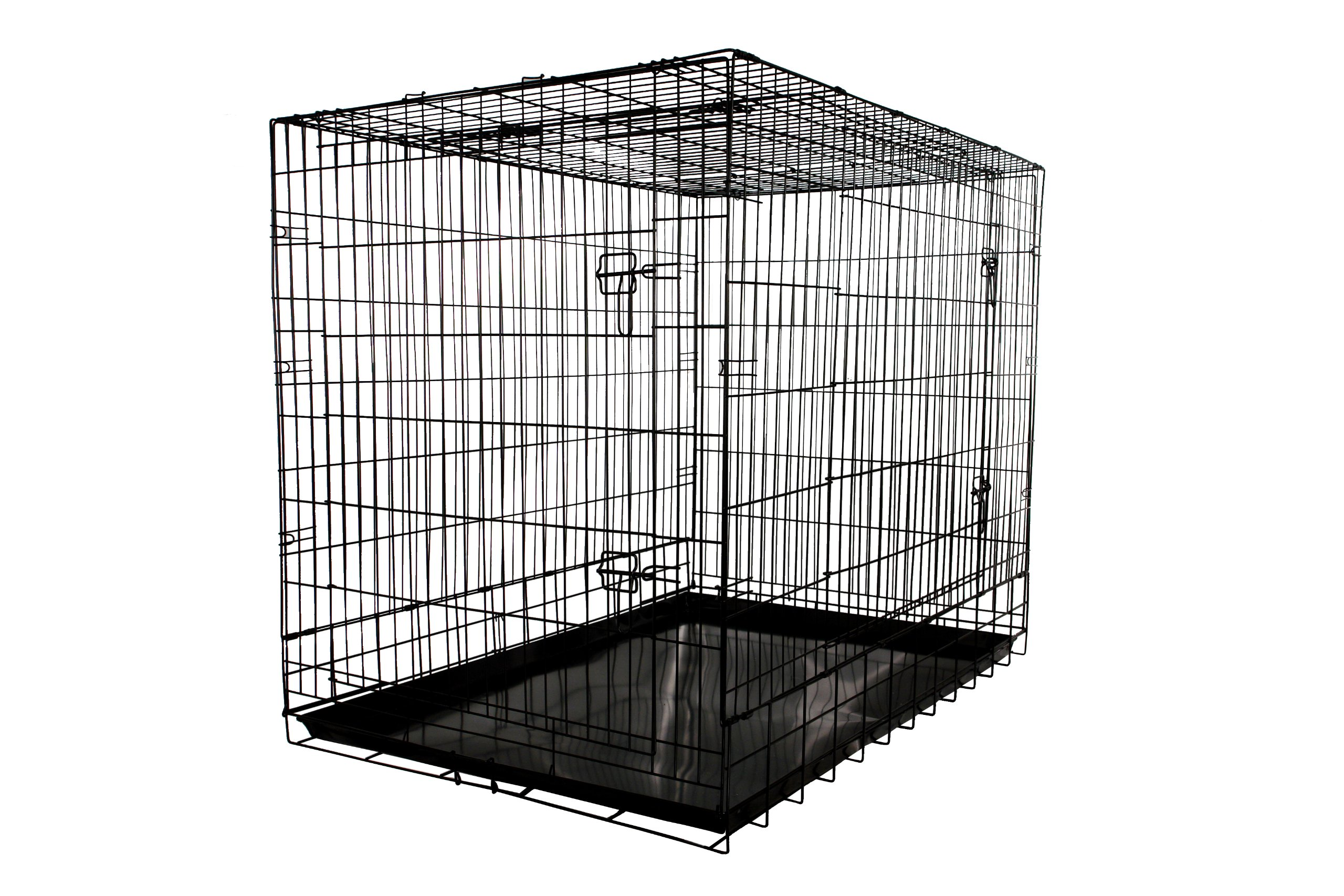 Dog Crate Folding Wire Metal Puppy Kennel Cage Xxl Large