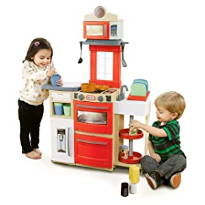 Little Tikes Cook n Store Kitchen Playset - Red