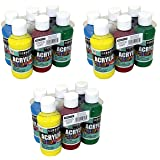 22-4806 Sargent Art Primary Acrylic Paint Set, 4 Ounce, 6-Pack (3_Pack) (Color: 3_Pack)