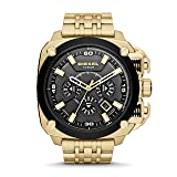 Diesel Men's 'Bamf' Quartz Stainless Steel Watch, Color:Gold-Toned (Model: DZ7378) (Color: Black, Tamaño: One Size)