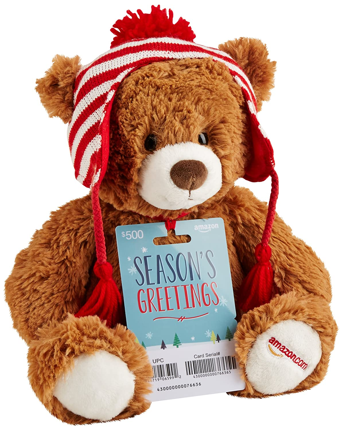 Amazon.com Gift Cards - With Limited Edition Gund Teddy Bear - Free One-Day Shipping (Limited Quantities Available)