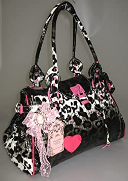 Exoticglitter Anna Smith Leopard Print Hand Shoulder Bag 58