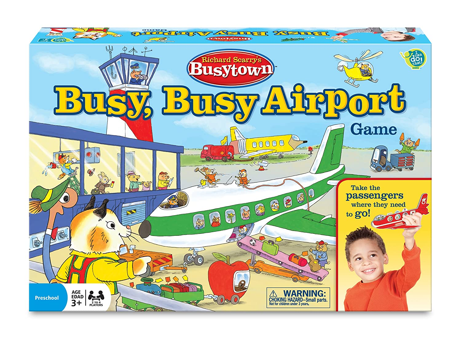 Busytown Airport game for preschoolers
