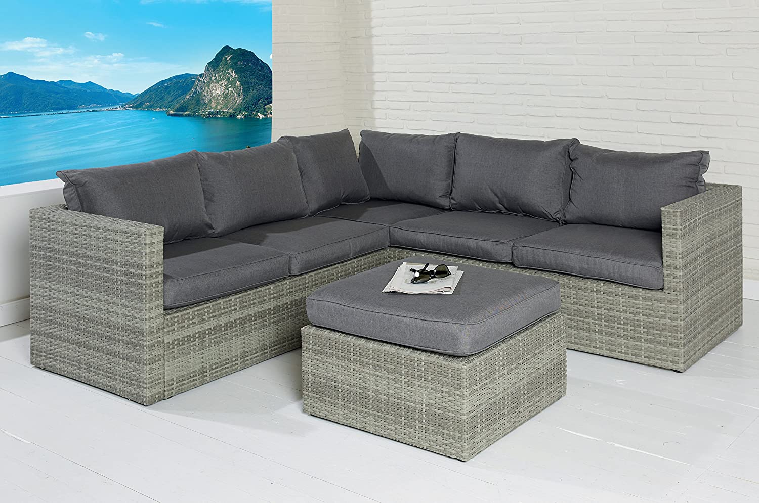 Poly Rattan Sofa Lounge Set