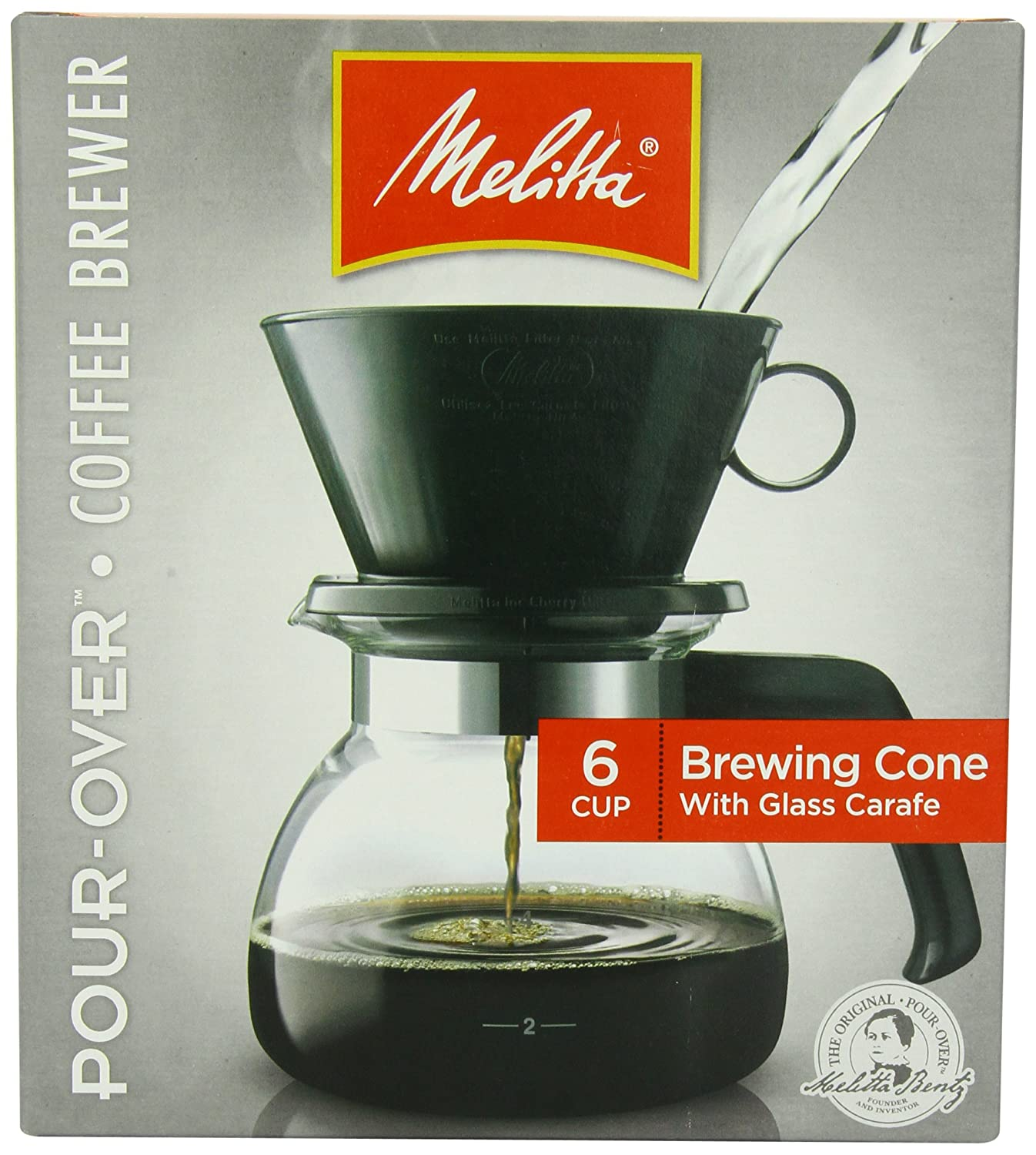 Melitta Coffee Maker, 6 Cup Pour-Over Brewer with Glass Carafe, 1-Count , New, F 55437640442 | eBay