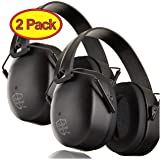 ClearArmor 2 Pack - Safety Shooting Ear Muffs Hearing Ear Protection - 31.5 dB SNR Noise Reduction - Comfortable Earmuffs That Work for Hunting, Gun Range, Mowing (Color: 2- Pack, Black, Tamaño: 2 Pack)