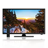 AXESS TVD1805-22 22-Inch 1080p LED HDTV, Features 12V Car Cord Technology, VGA/HDMI/USB Inputs, Built-In DVD Player, Full Function Remote (Tamaño: 22 inch)