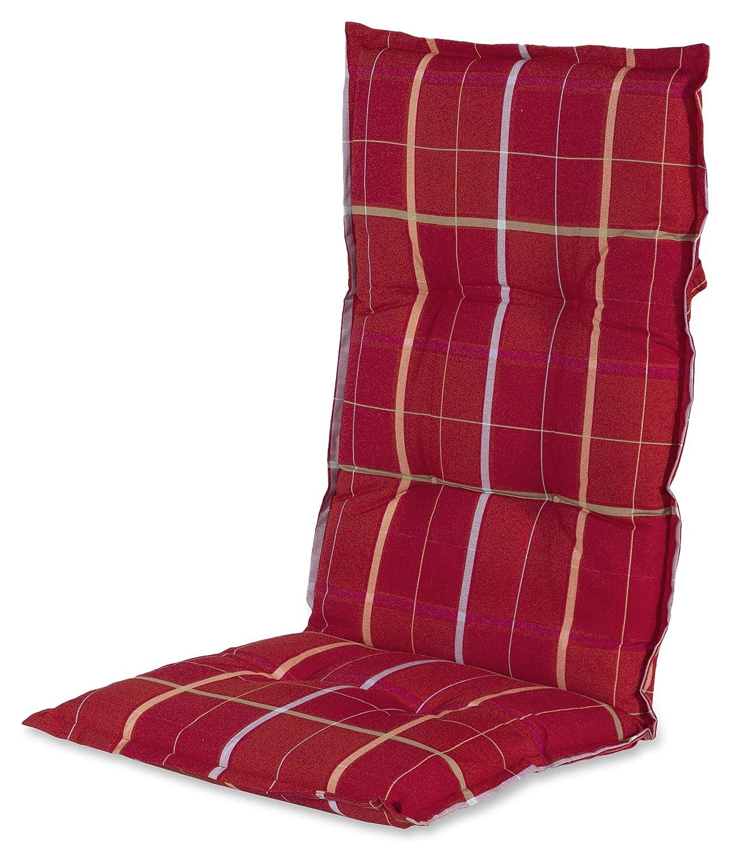 Hartman 14705116 Kissen Hochlehner 123 x 50 cm, Dessin Square Garden rot jetzt bestellen