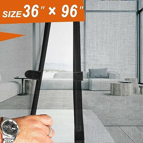Magnetic Screen Door 36 X 96 Mosquito Patio Screens Magic Door Mesh