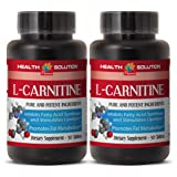 Fat loss diet - NATURAL L-CARNITINE 500MG - Carnitine metabolism - 2 Bottle (60 Tablets)