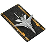 Hot Wings F-14 Tomcat Jet (Jolly Rodgers) With Connectible Runway, Silver (Color: Silver)