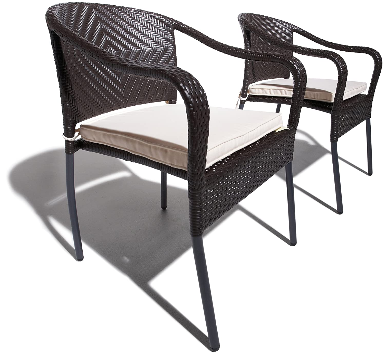 Strathwood Gartenmöbel – Padre Stapelbarer Armlehnstuhl aus wetterfestem Polyrattan, 2er-Set online bestellen