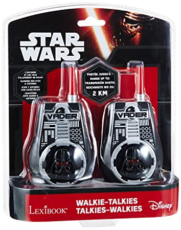 LEXIBOOK - Star Wars-The Clone Wars Darth Vader Jedi Yoda Garçon Walkie-Talkie - noir