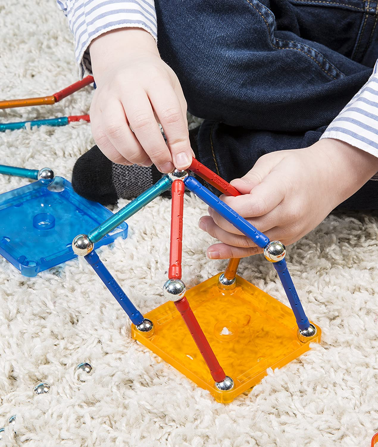 buy geomag 86 piece construction set assorted color online at low prices in india amazonin - Geomag Color 86