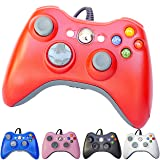 FiveStar USB Wired Game Pad Controller for Use With Xbox 360, Windows 7 (X86) Windows 8 (X86) 5 Color (Color: Red)