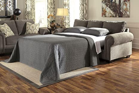 Signature Design by Ashley Emelen Alloy Queen Sleeper Sofa