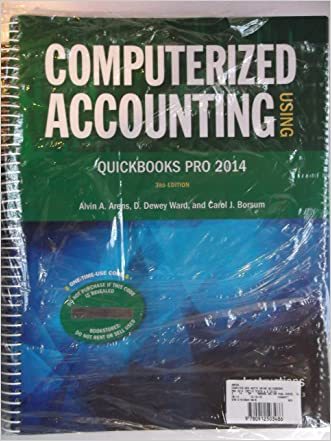Computerized Accounting Using QuickBooks Pro 2014
