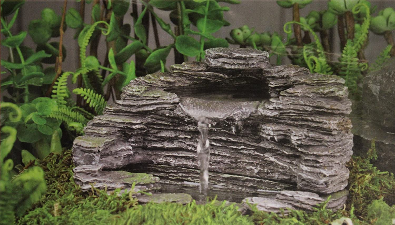 Granite water fountain waterfall decor garden outdoor for Garden pond amazon