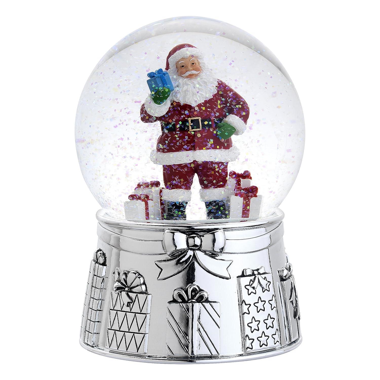 Santa claus snow globes christmas wikii