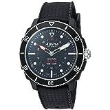 Alpina Men's AL-282LBB4V6 Horological Smart Watch Analog Display Quartz Black Watch (Color: Black)