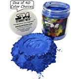 Blue Pigment Powder for Resin Fluid Art, Pigment Powder Colors for Soap Making, Nail Dipping Powder, Blue Metallic Mica Pigment Powder Stardust Micas Stormy Skies Blue (Stormy Skies, 72 Gram Jar) (Color: Stormy Skies, Tamaño: 72 Gram Jar)