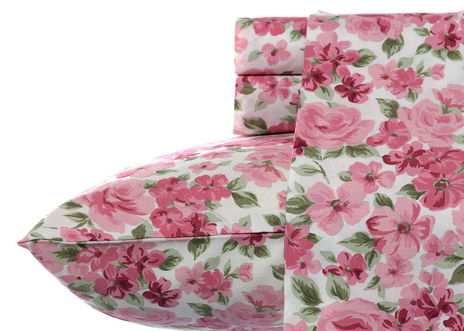 Laura Ashley Savannah Cotton Sheet Set, King, Pink laura ashley butterfly rainboots for girls