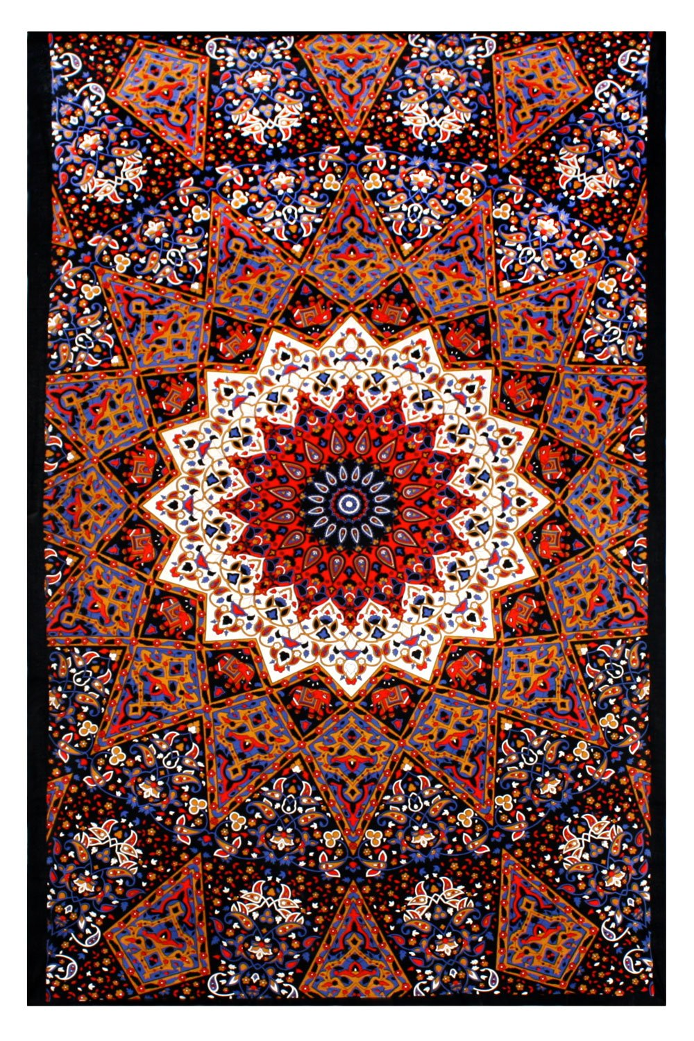indian star hippie wall hanging mandala elephant tapestry