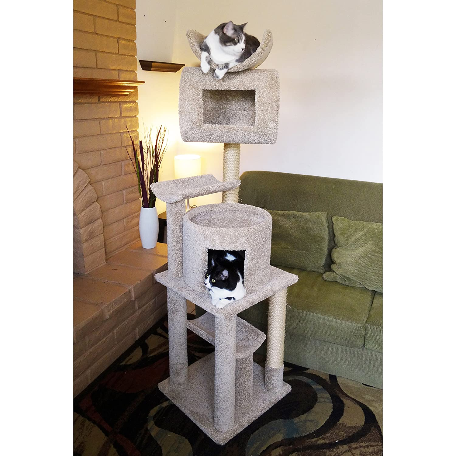 Cool cat tree plans cat trees carpet covered works of art for Cat climber plans
