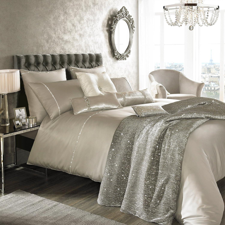 S546582 kylie minogue set biancheria da letto liza 200 x 200 cm grigio grau ebay - Biancheria da letto amazon ...