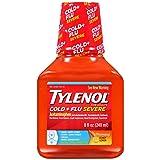 Tylenol Cold + Flu Severe Warming Honey Lemon Liquid, 8 Fl. oz.