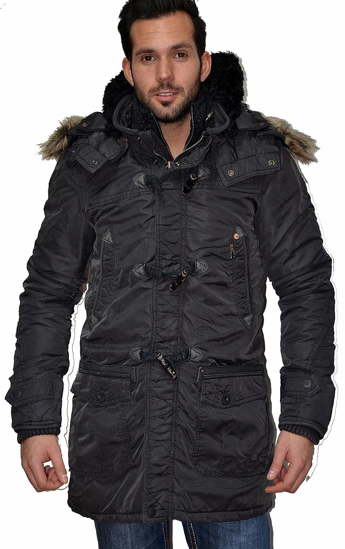 Khujo Steven Jacke Patrick Parka Winterjacke dunkelbraun Gr. M L XL günstig online kaufen