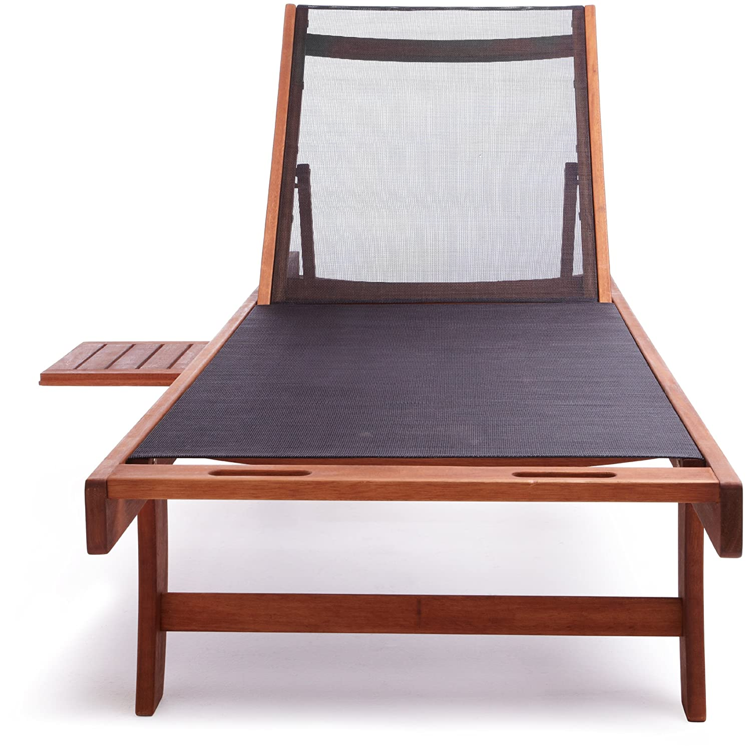 Basics chaise lounge chair 5 reclining position eucalyptus for Chaise 5 5 designers