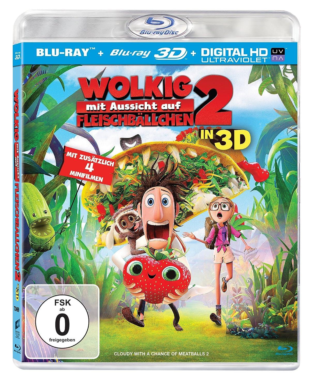 Wolkig mit Aussicht auf Fleischbällchen 2 (3D + 2D Version) [Blu-ray] 16,98€