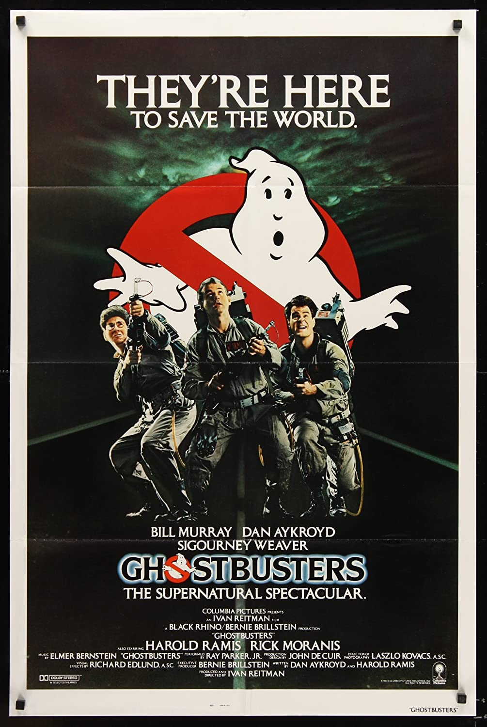 original movie poster ghostbusters fans