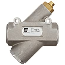 "Parker 032501500 3250 Series Aluminum Inline Flow Control Valve, 1-1/2"" NPTF, 250 psi, Standard Adjustment"